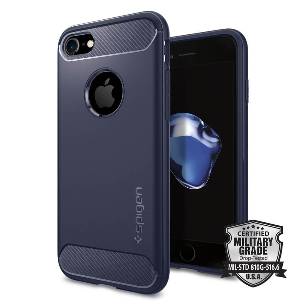 Spigen® Rugged Armor™ SGP 042CS21188 iPhone 7 Case - Midnight Blue