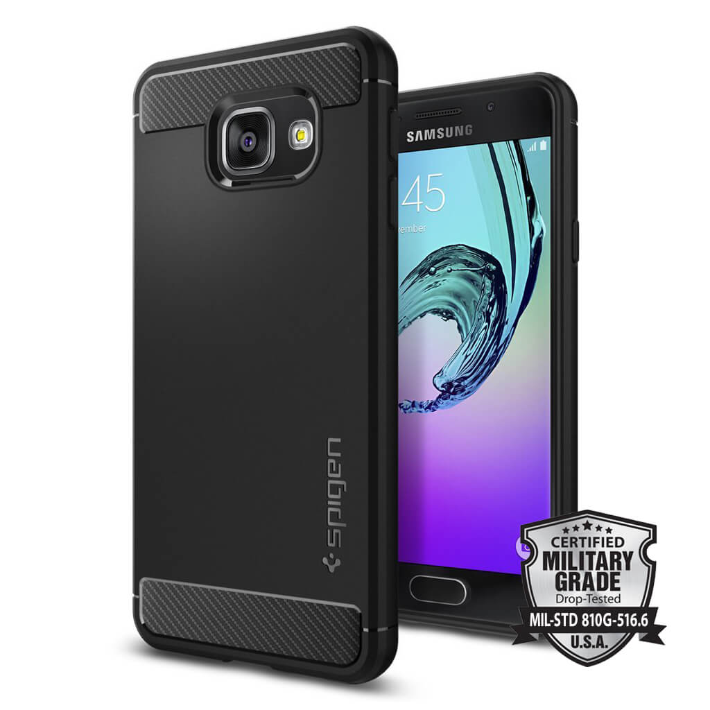 Spigen® Rugged Armor™ SGP 564CS20633 Samsung Galaxy A3 (2016) Case - Carbon Fiber