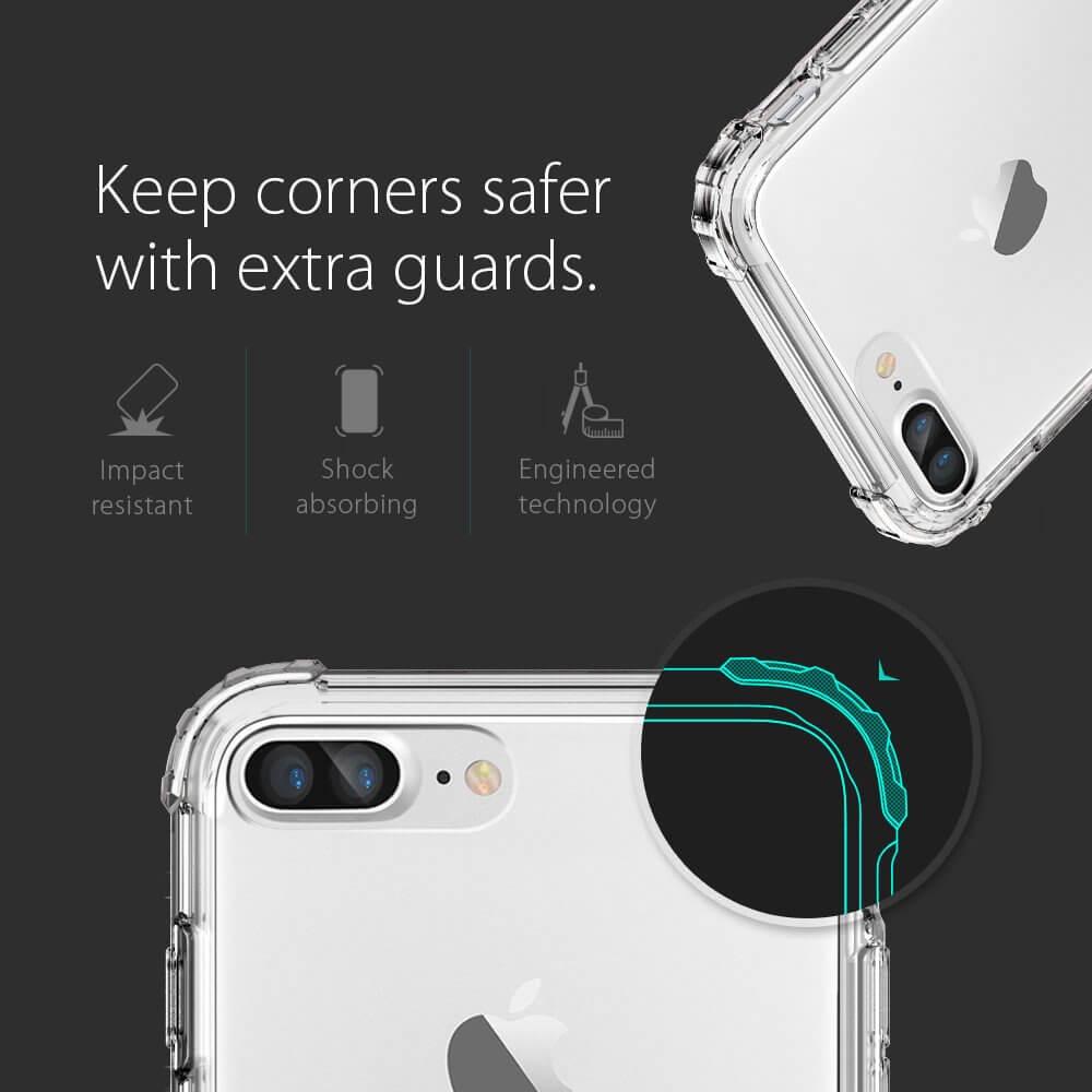 Spigen® Crystal Shell™ 043CS20314 iPhone 7 Plus Case – Crystal Clear