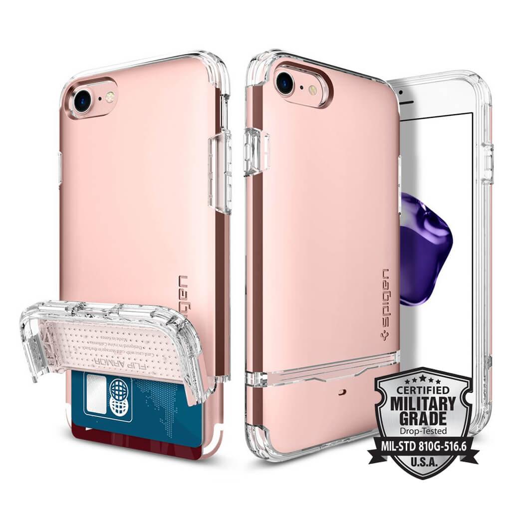 Spigen® Flip Armor™ SGP 042CS20819 iPhone 7 Case - Rose Gold