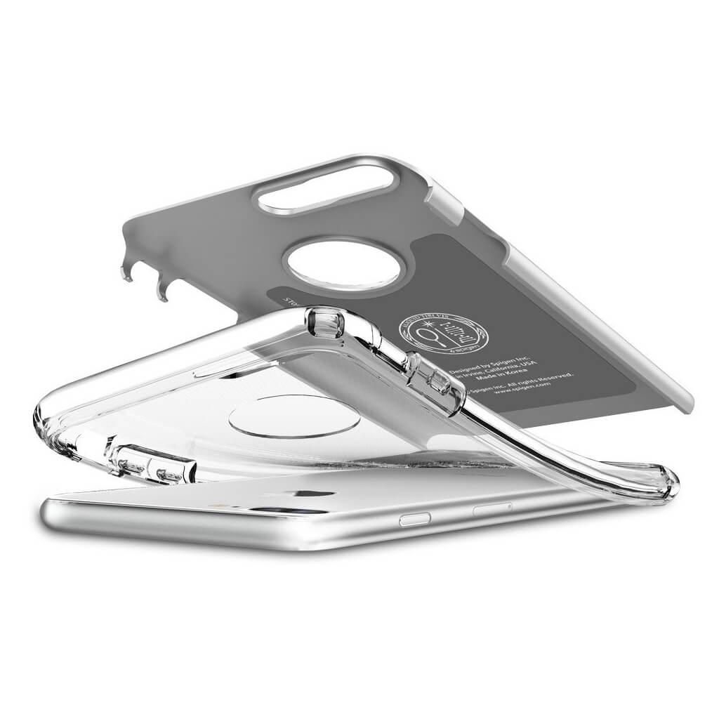 Spigen® Hybrid Armor™ SGP 043CS20698 iPhone 7 Plus Case - Satin Silver