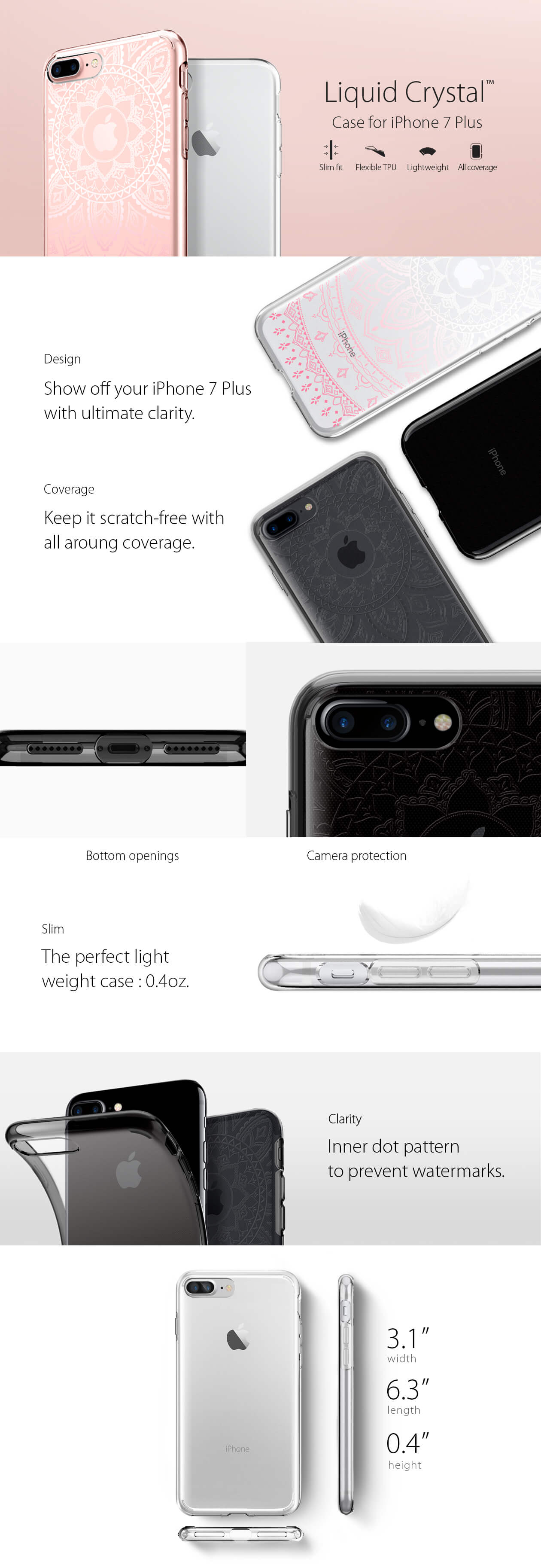 Spigen® Liquid Crystal™ iPhone 7 Plus Case