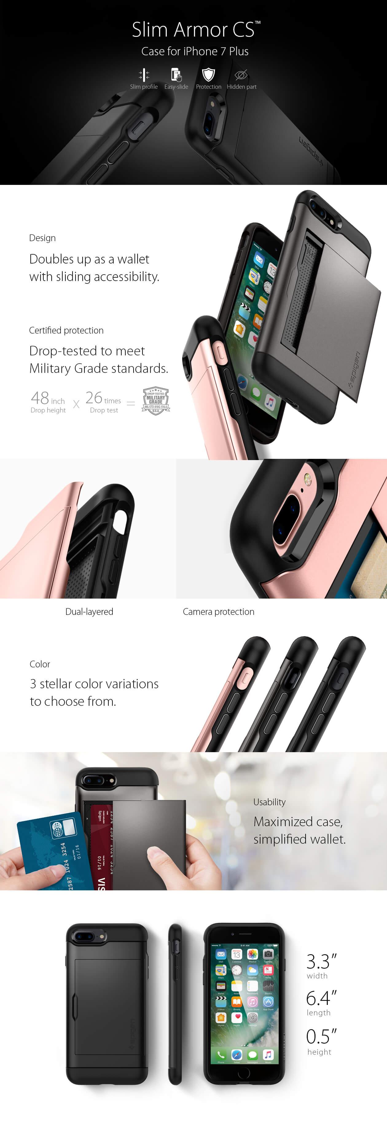 Spigen® Slim Armor™ CS iPhone 7 Plus Case