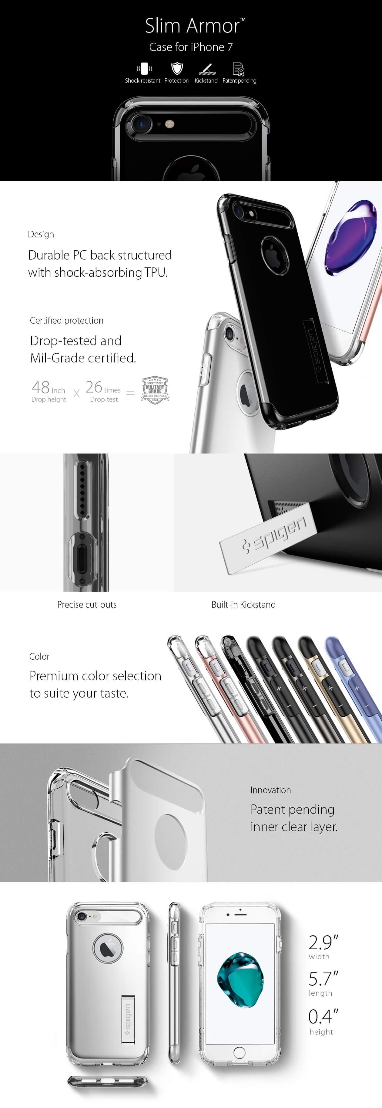Spigen® Slim Armor™ iPhone 7 Case