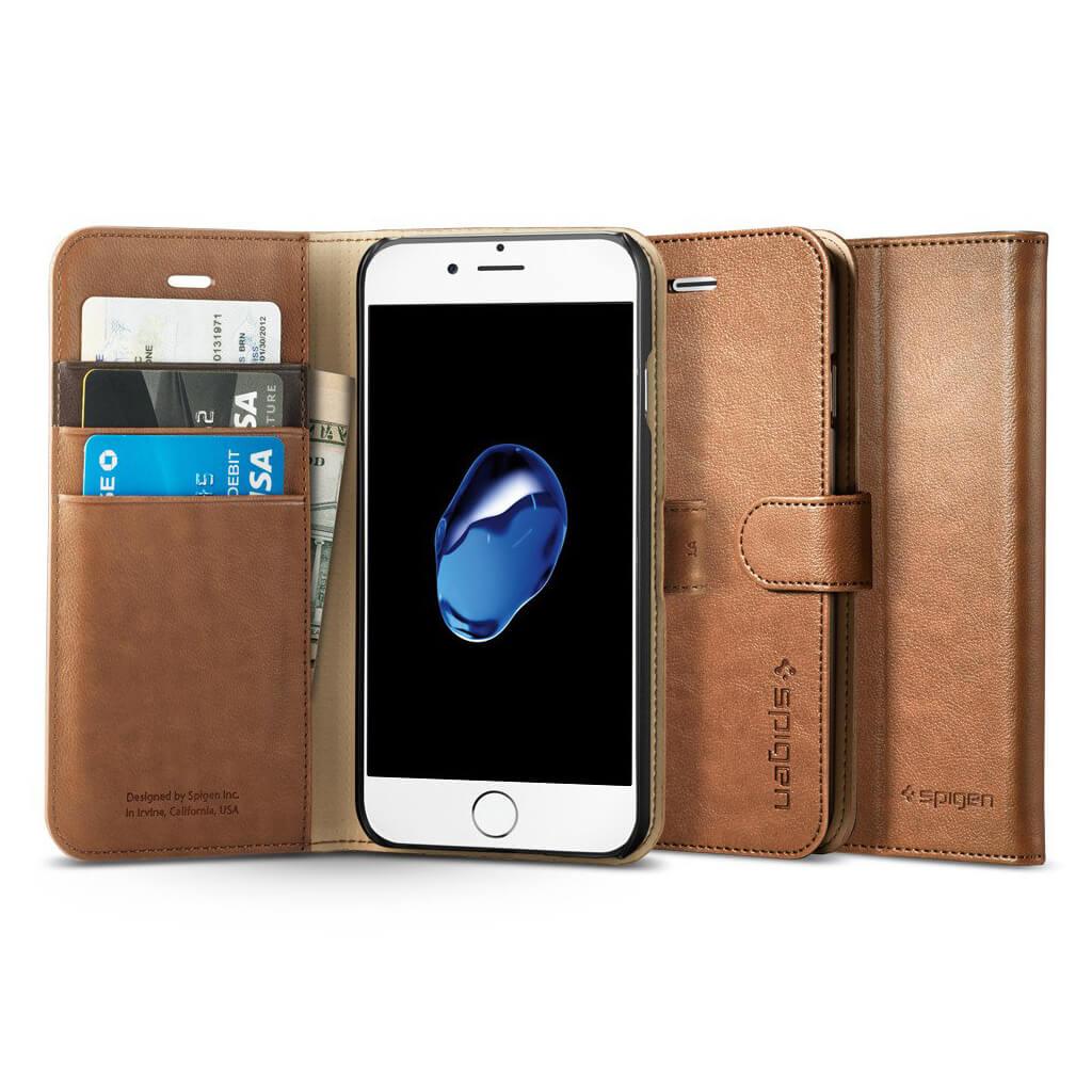 Spigen® Wallet S™ SGP 042CS20546 iPhone 7 Case - Brown