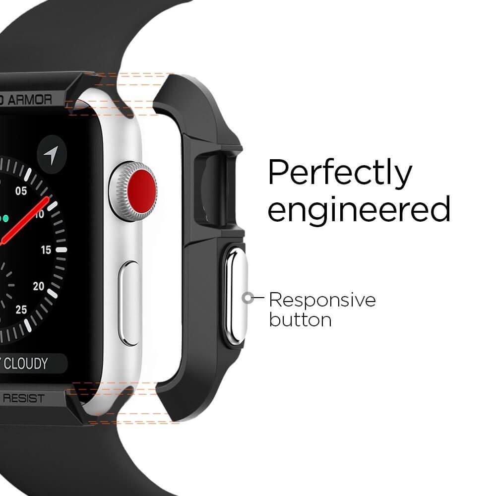 Spigen® Rugged Armor™ SGP11496 Apple Watch Series 3/2/1 (42mm) Case - Black