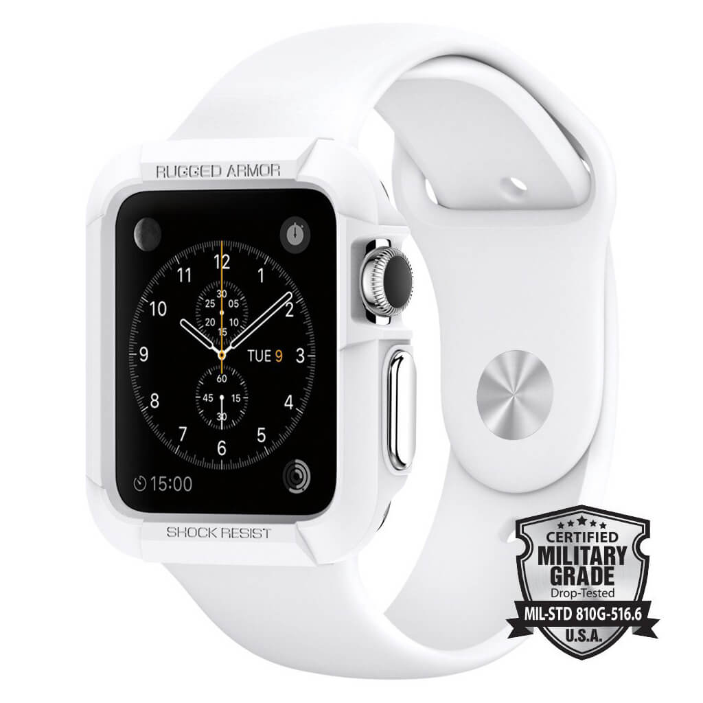 Spigen® Rugged Armor™ SGP11497 Apple Watch 42mm Case - White