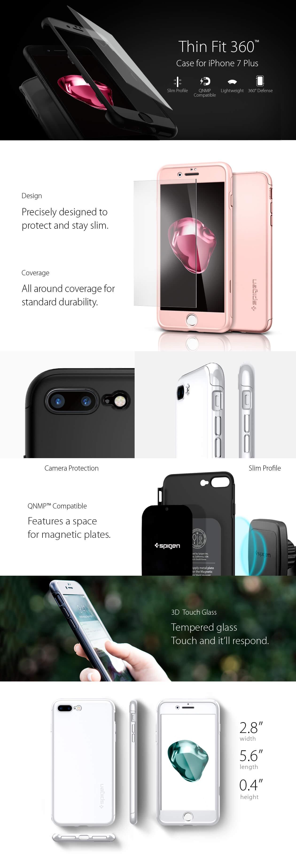 Spigen® Thin Fit 360™ iPhone 7 Plus Case