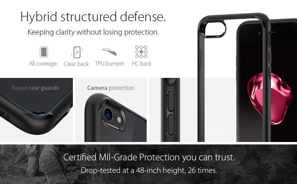Spigen® Ultra Hybrid™ 2 042CS20926 iPhone 8 / 7 Case - Black