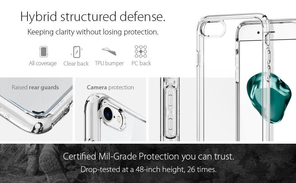 Spigen® Ultra Hybrid™ 2 SGP 042CS20927 iPhone 7 Case - Crystal Clear