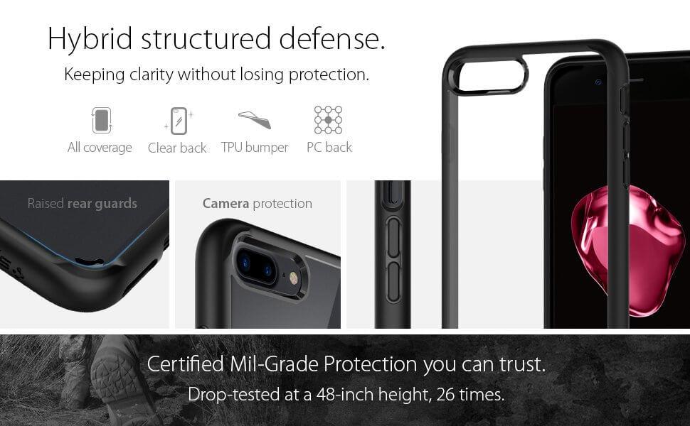 Spigen® Ultra Hybrid™ 2 SGP 043CS21137 iPhone 7 Plus Case - Black