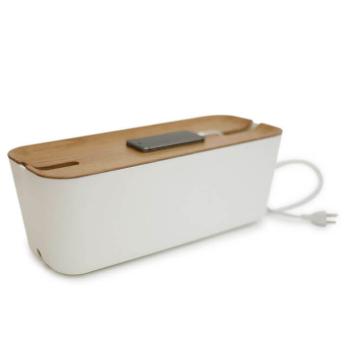 Bosign® Hideaway™ XL Cable Organiser - Natural / White