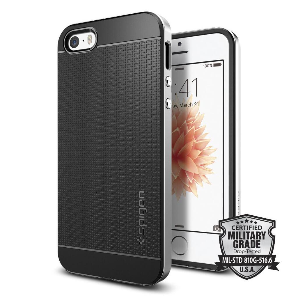 Spigen® Neo Hybrid 041CS20185 iPhone SE/5s/5 Case - Satin Silver