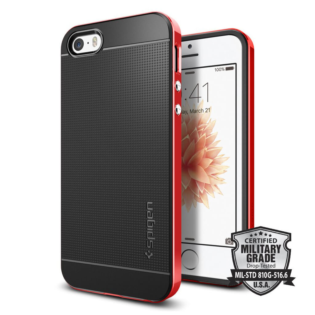 Spigen® Neo Hybrid 041CS20186 iPhone SE/5s/5 Case - Dante Red