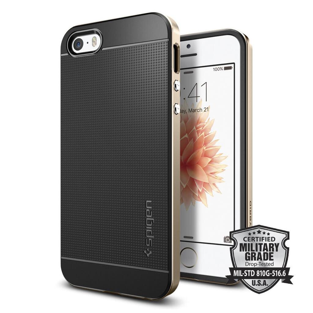 Spigen® Neo Hybrid 041CS20250 iPhone SE/5s/5 Case - Champagne Gold
