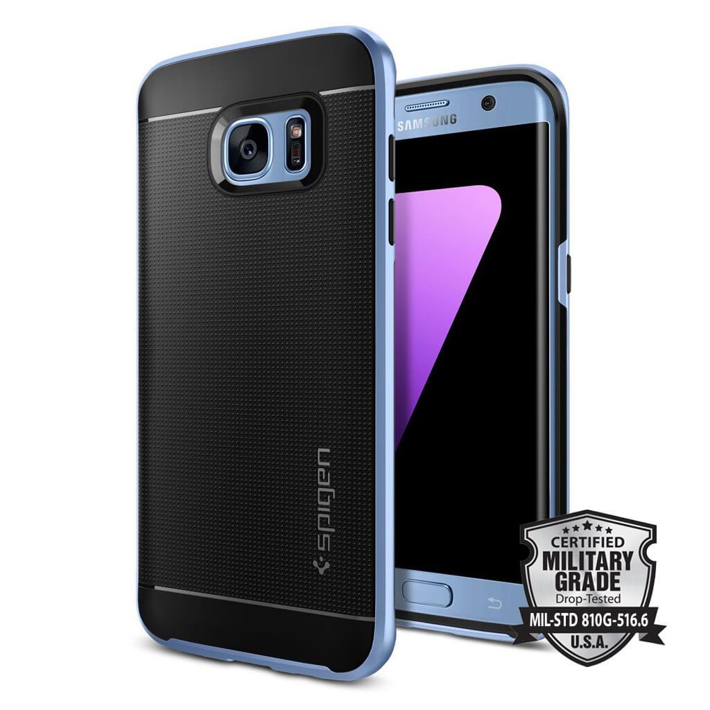 Spigen® Neo Hybrid 556CS21028 Samsung Galaxy S7 Edge Case - Blue Coral