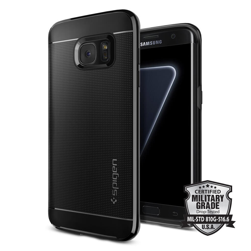 Spigen® Neo Hybrid 556CS21154 Samsung Galaxy S7 Edge Case - Black Pearl