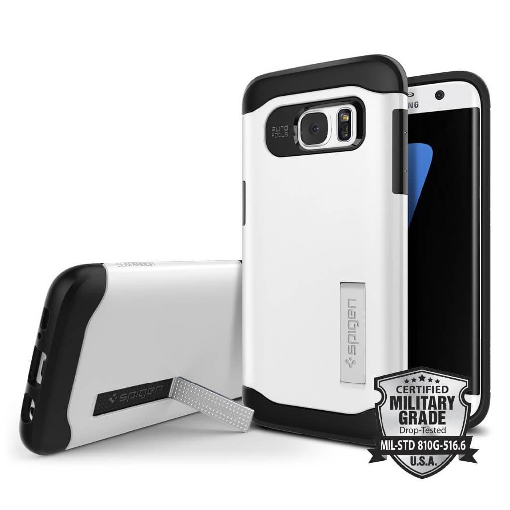 Spigen® Slim Armor 556CS20039 Samsung Galaxy S7 Edge Case - Shimmery White