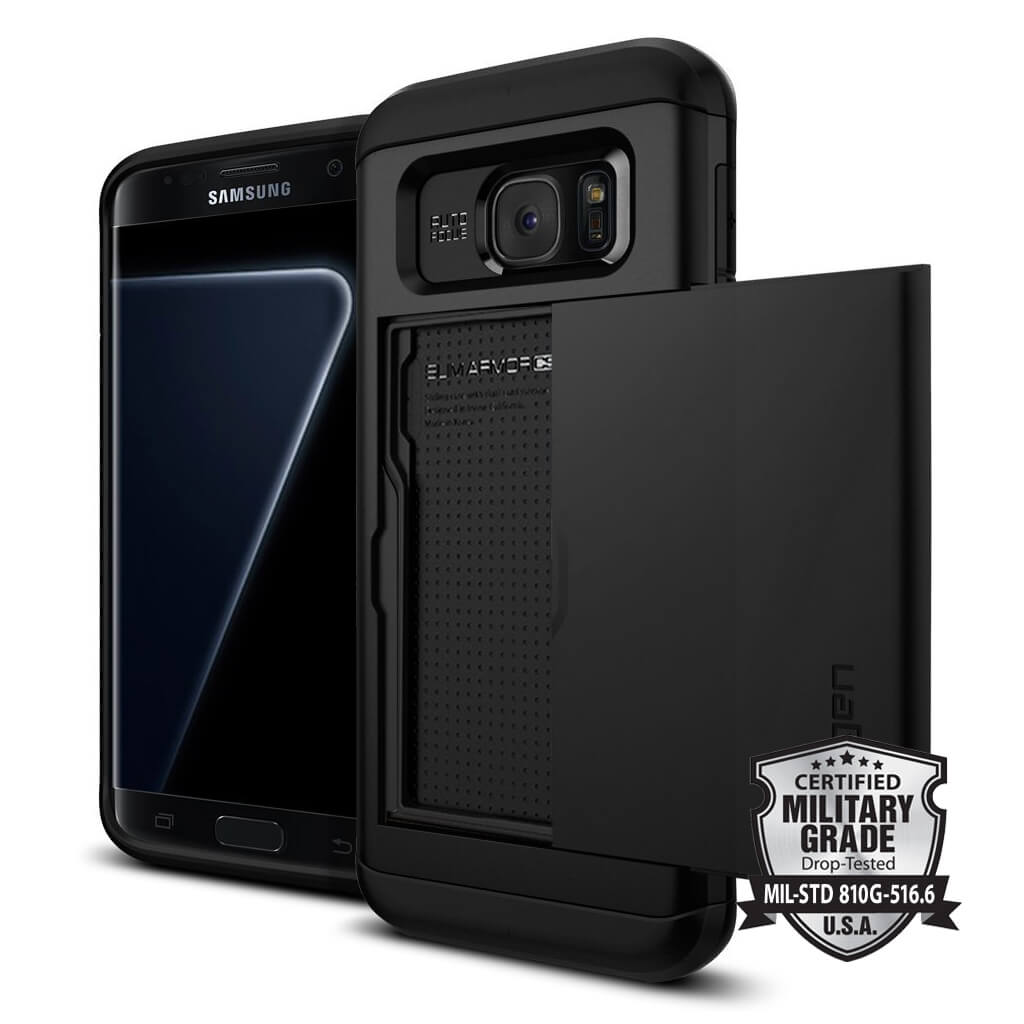 Spigen® Slim Armor CS 556CS21156 Samsung Galaxy S7 Edge Case - Black