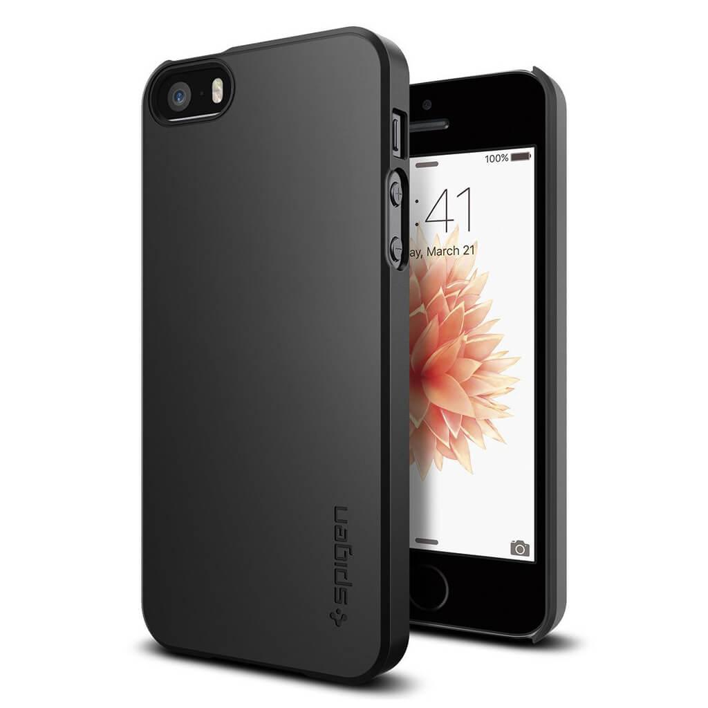 Spigen® Thin Fit 041CS20168 iPhone SE/5s/5 Case - Black