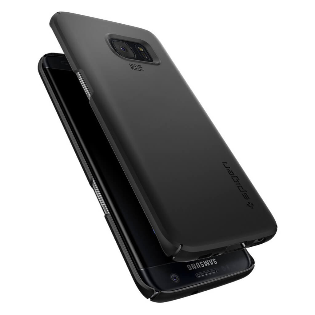 Spigen® Thin Fit 556CS20029 Samsung Galaxy S7 Edge Case - Black