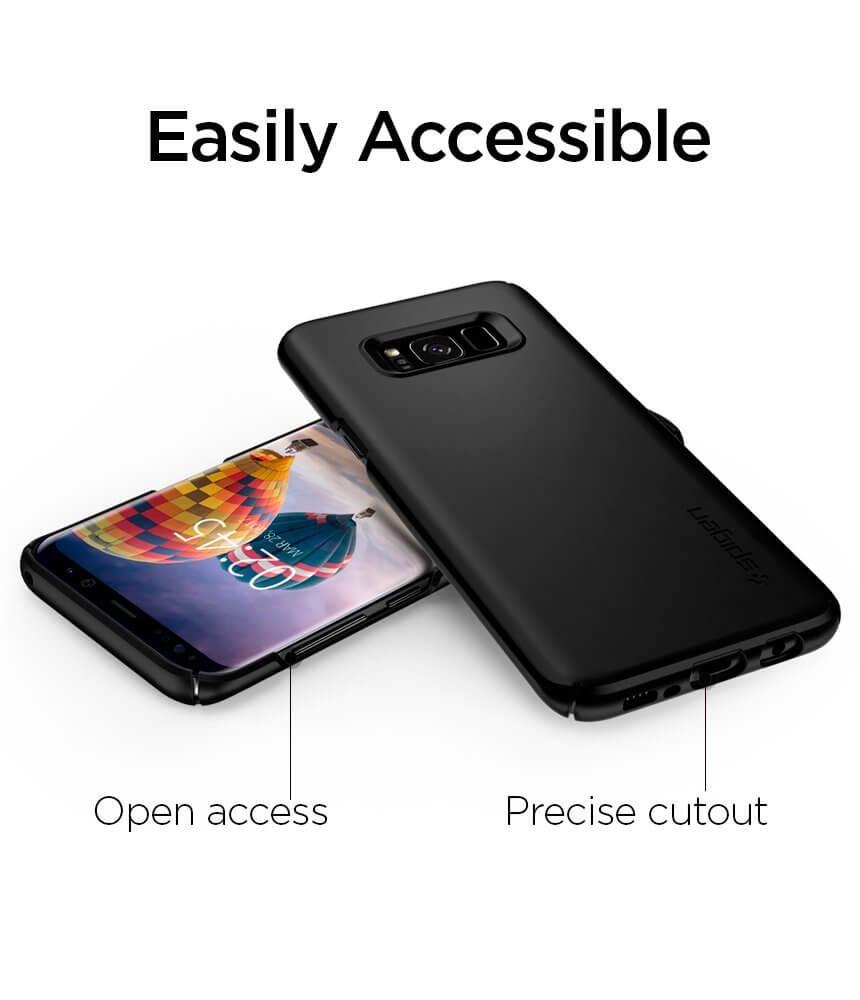 Spigen® Thin Fit 565CS21624 Samsung Galaxy S8 Case - Black