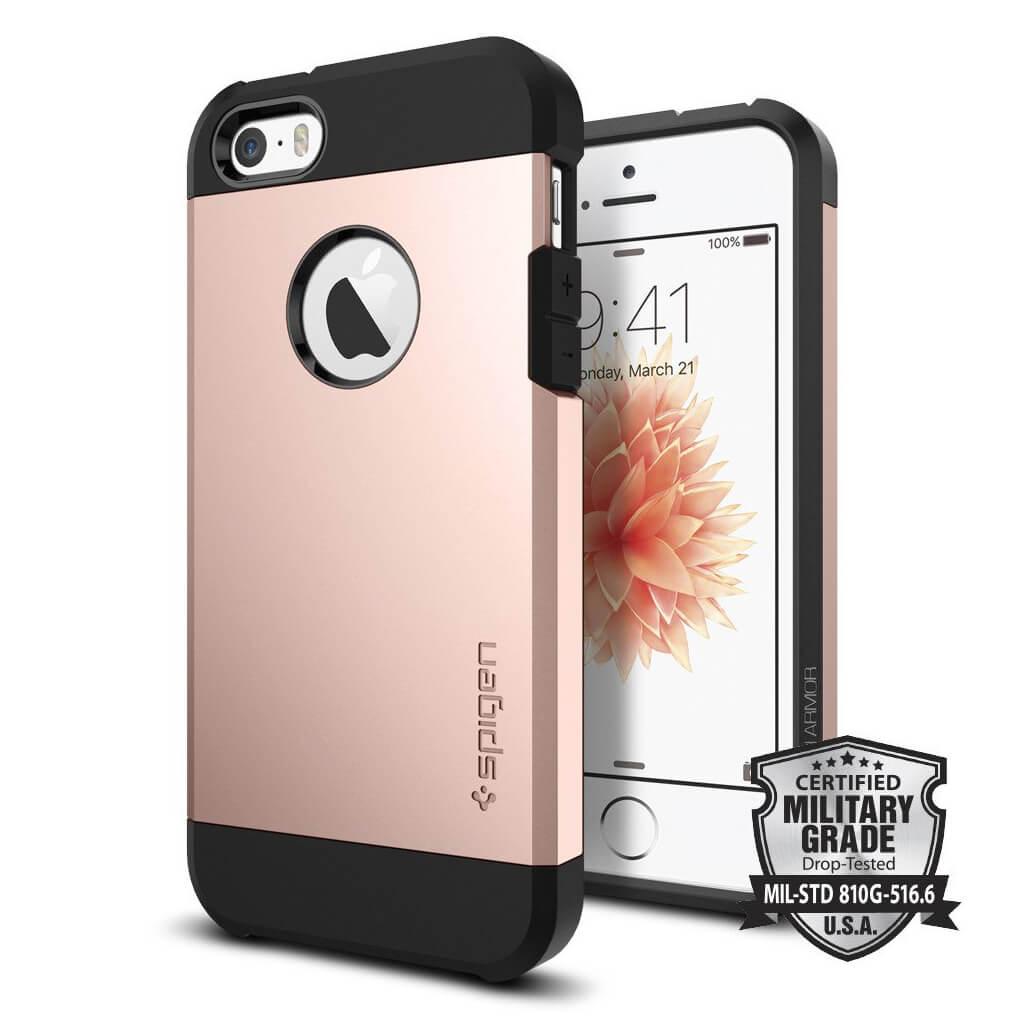 Spigen® Tough Armor 041CS20190 iPhone SE/5s/5 Case - Rose Gold