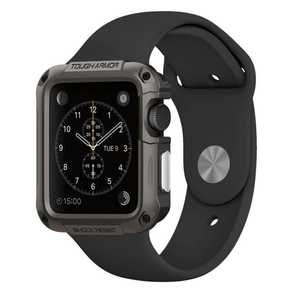 Spigen® Tough Armor 048CS21060 Apple Watch Series 2 & Series 1 (42mm) - Gunmetal