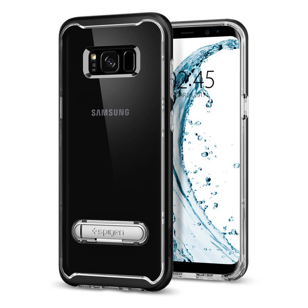 Spigen® Crystal Hybrid™ 571CS21126 Samsung Galaxy S8+ Plus Case - Black