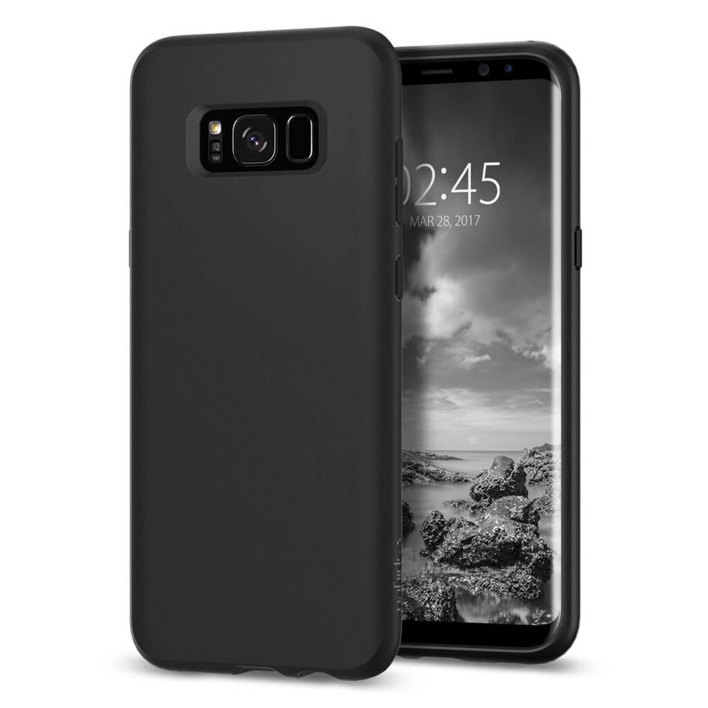 Spigen® Liquid Crystal™ 565CS21613 Samsung Galaxy S8 Case - Matte Black