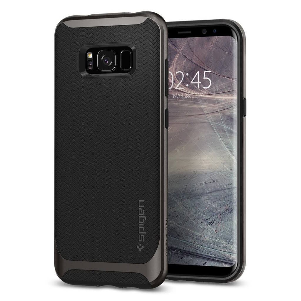 Spigen® Neo Hybrid 571CS21646 Samsung Galaxy S8+ Plus Case - Gunmetal