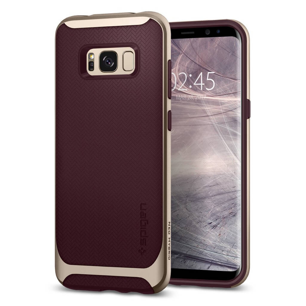 Spigen® Neo Hybrid 571CS21649 Samsung Galaxy S8+ Plus Case - Burgundy