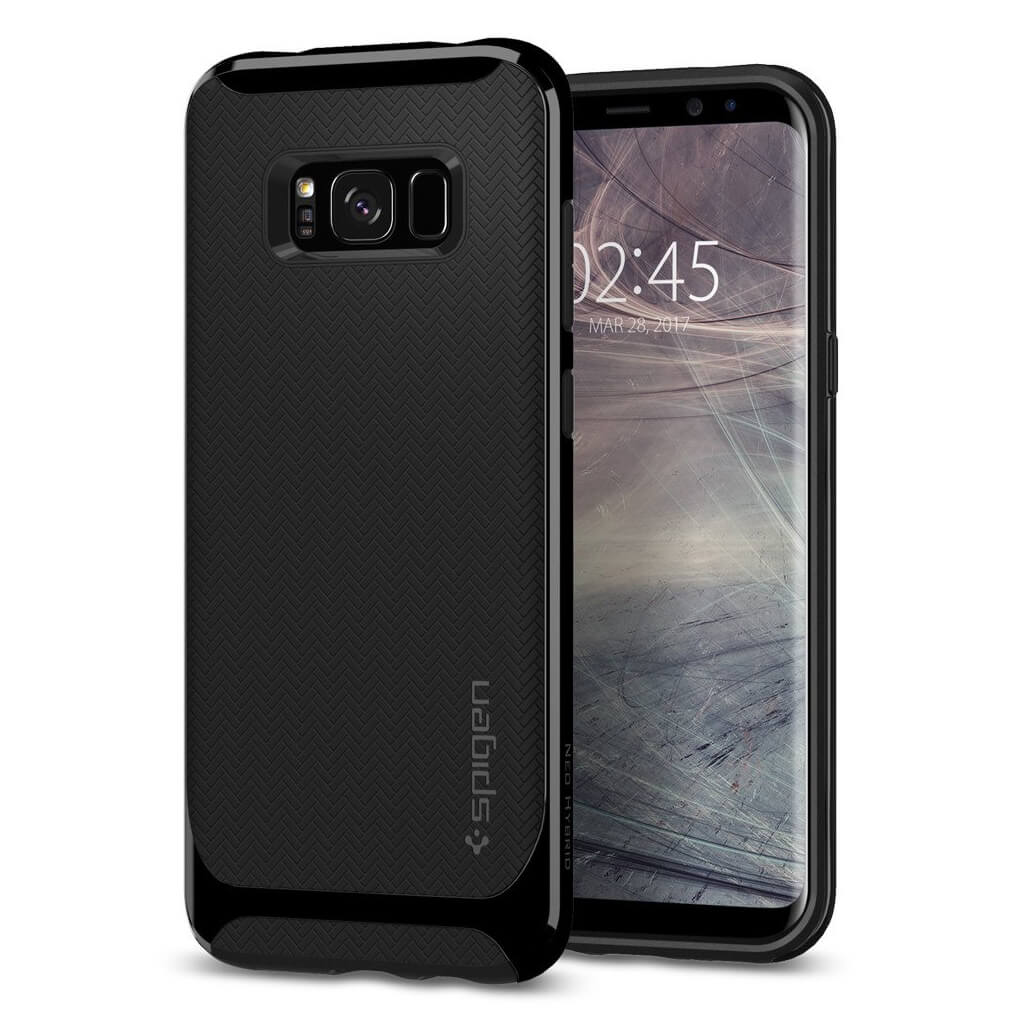 Spigen® Neo Hybrid 571CS21651 Samsung Galaxy S8+ Plus Case - Shiny Black