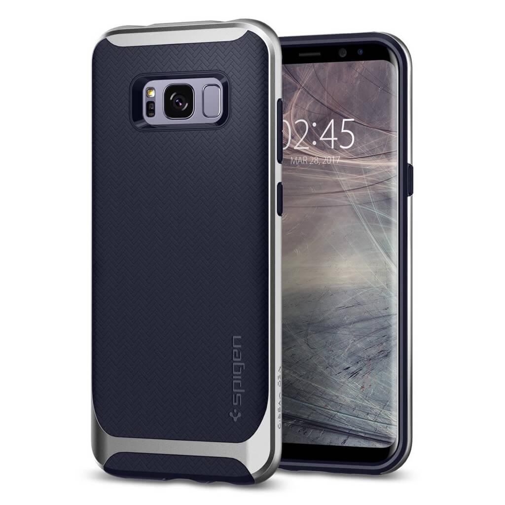 Spigen® Neo Hybrid 571CS21652 Samsung Galaxy S8+ Plus Case - Silver Arctic
