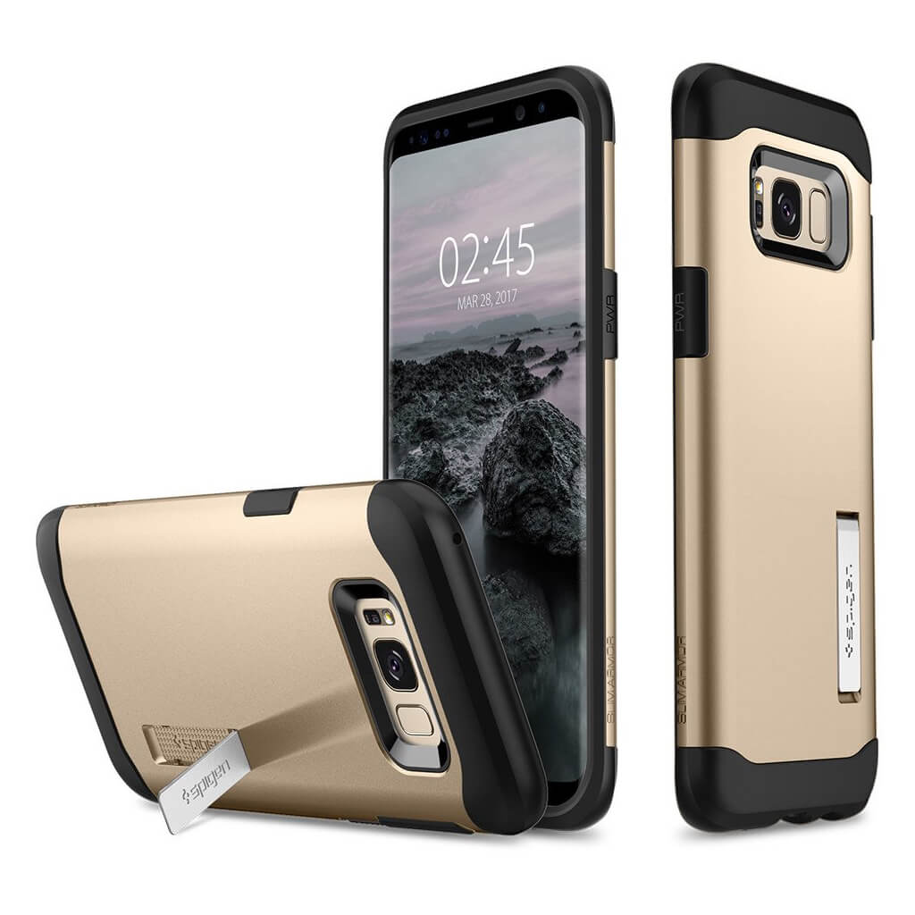 Spigen® Slim Armor™ 565CS20832 Samsung Galaxy S8 Case - Gold Maple