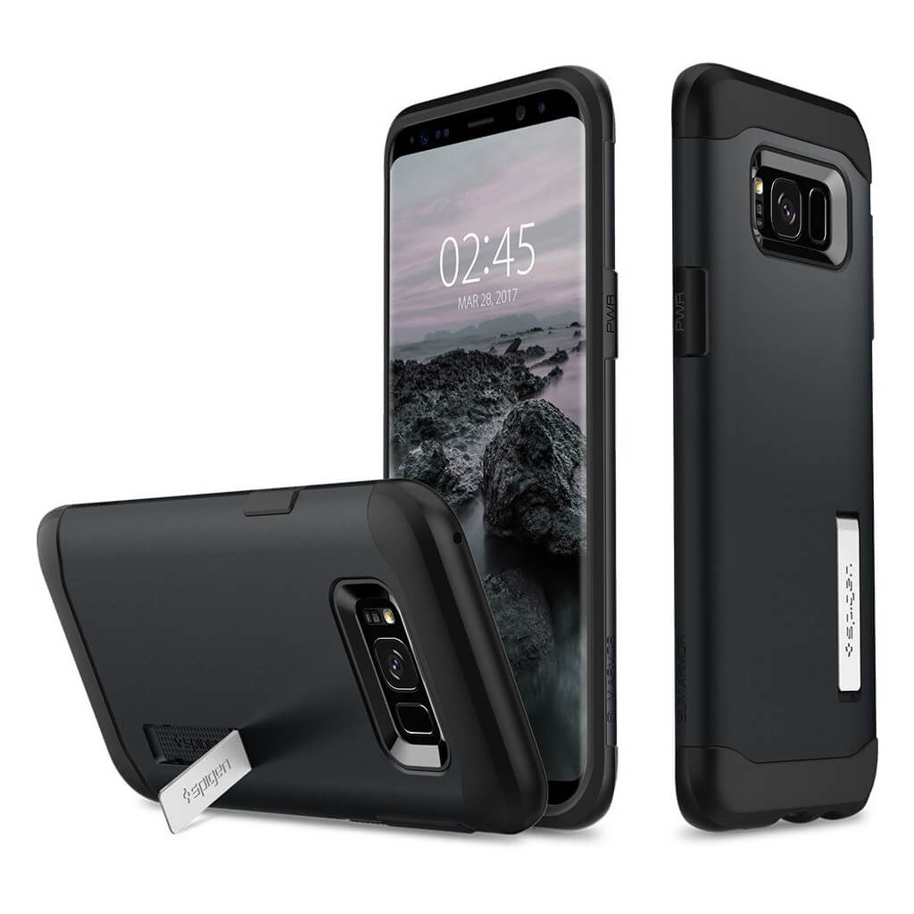 Spigen® Slim Armor™ 571CS21121 Samsung Galaxy S8+ Plus Case - Metal Slate
