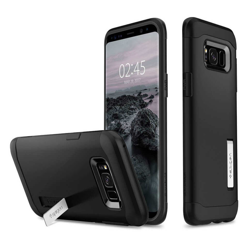 Spigen® Slim Armor™ 571CS21122 Samsung Galaxy S8+ Plus Case - Black