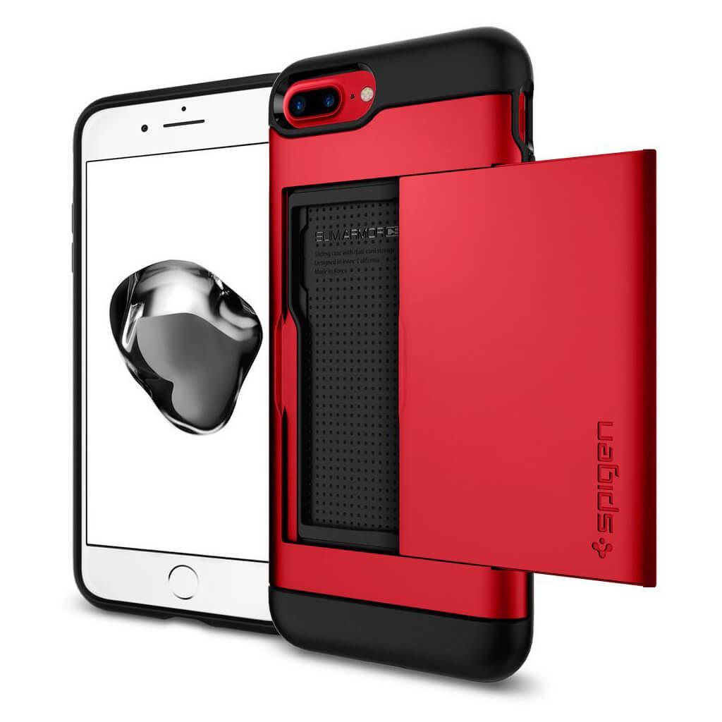 Spigen® Slim Armor CS™ 043CS21730 iPhone 8 Plus / 7 Plus Case - Red