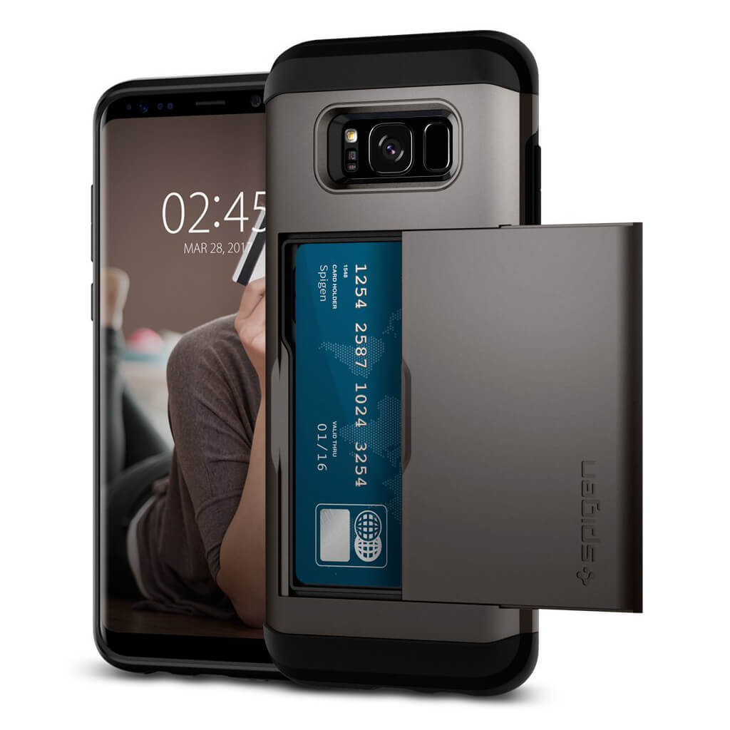 Spigen® Slim Armor CS™ 571CS21670 Samsung Galaxy S8+ Plus Case - Gunmetal