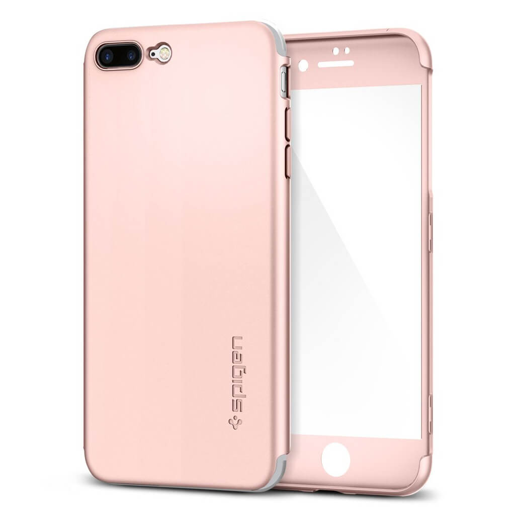 Spigen® Thin Fit 360™ 043CS21102 iPhone 7 Plus Case - Rose Gold