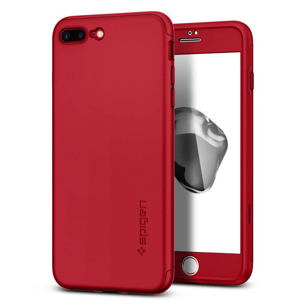 Spigen® Thin Fit 360™ 043CS21731 iPhone 7 Plus Case - Red