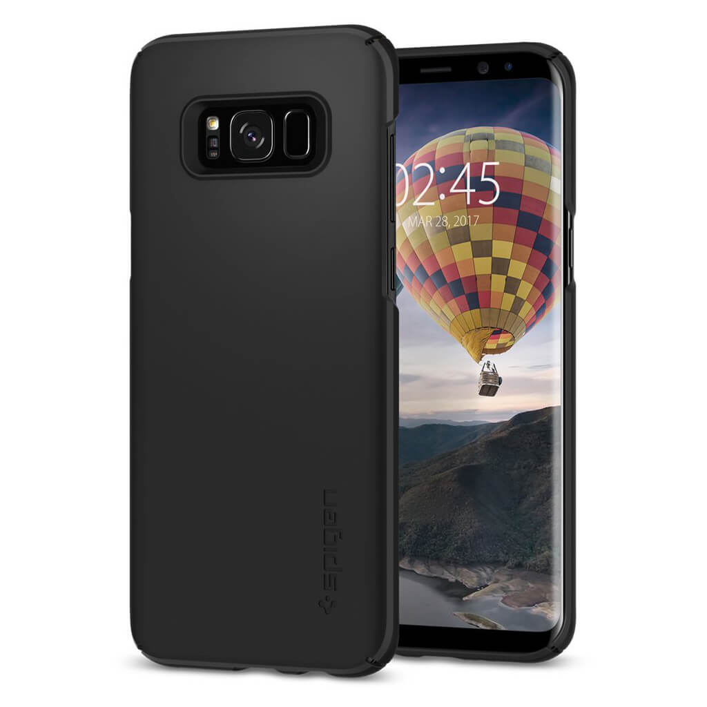 Spigen® Thin Fit 571CS21676 Samsung Galaxy S8+ Plus Case - Black
