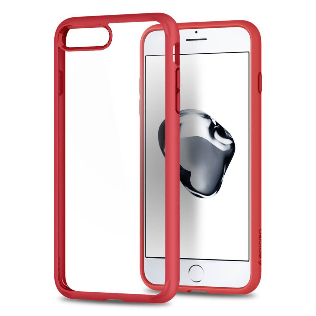 Spigen® Ultra Hybrid™ 2nd Generation 043CS21729 iPhone 7 Plus Case - Red
