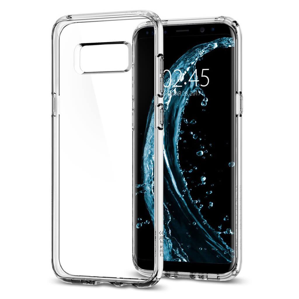 Spigen® Ultra Hybrid 571CS21683 Samsung Galaxy S8+ Plus Case - Crystal Clear