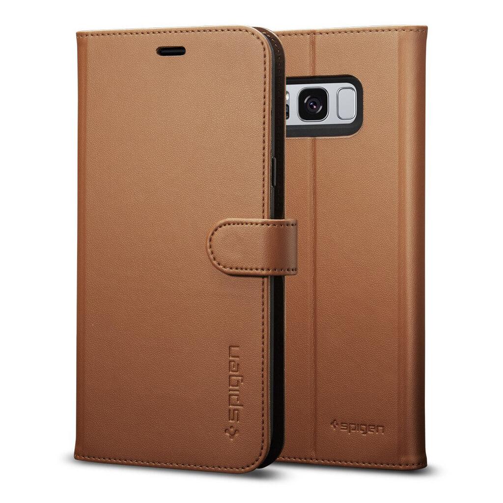 Spigen® Wallet S™ 565CS21636 Samsung Galaxy S8 Case - Brown