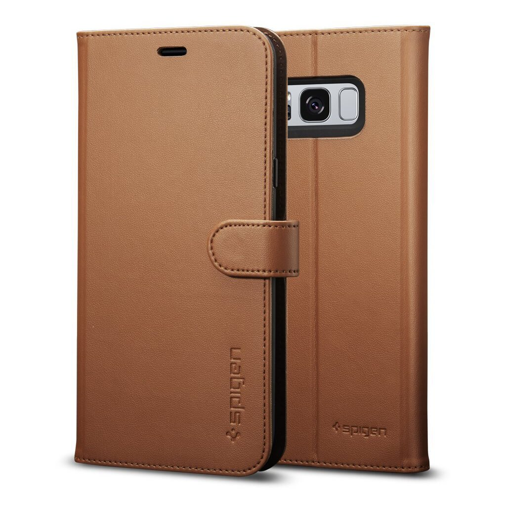 Spigen® Wallet S™ 571CS21688 Samsung Galaxy S8+ Plus Case - Brown