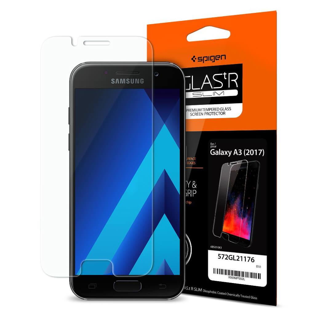 Spigen® GLAS.tR SLIM™ 572GL21176 Samsung Galaxy A3 (2017) Premium Tempered Glass Screen Protector