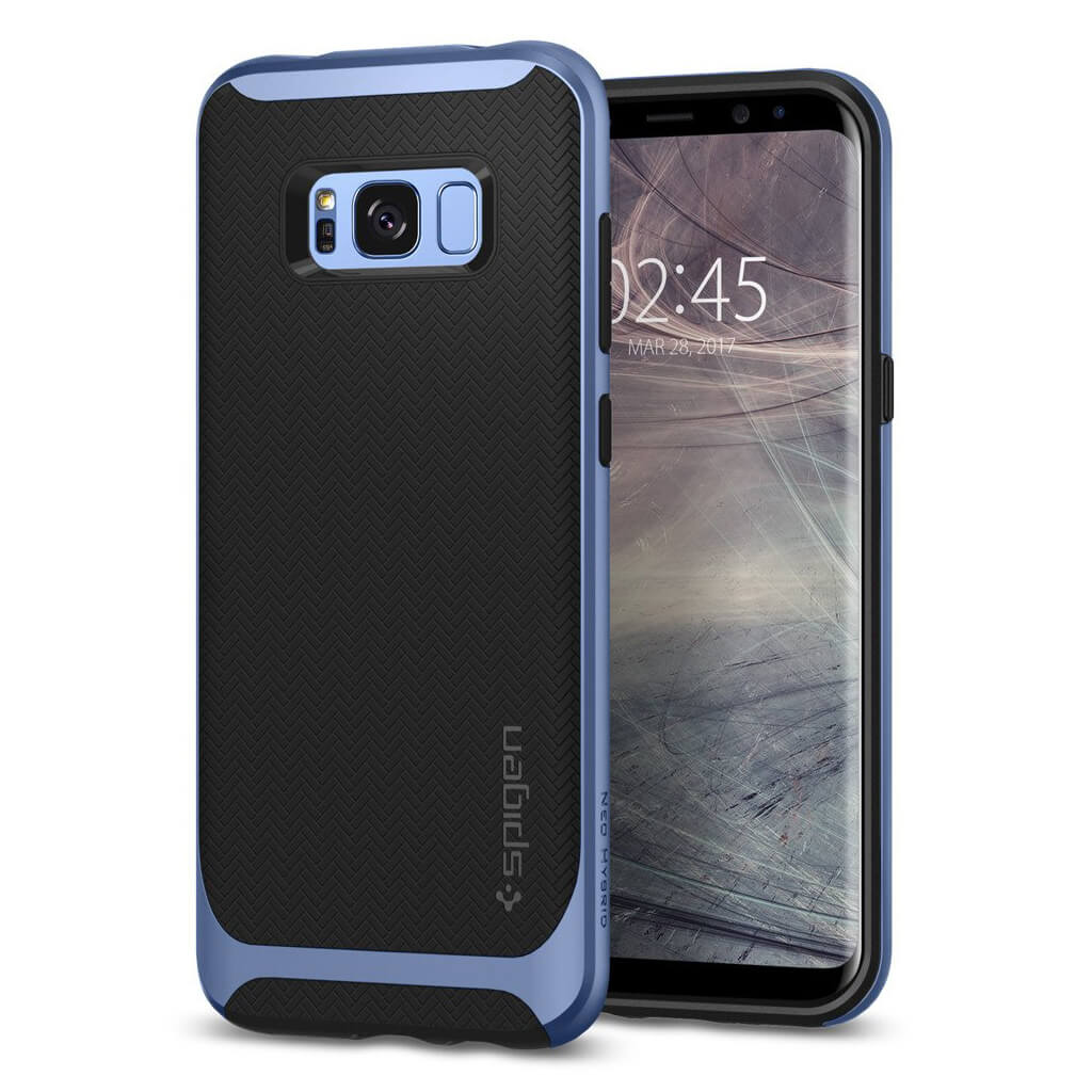 Spigen® Neo Hybrid™ 571CS21650 Samsung Galaxy S8+ Plus Case - Blue Coral