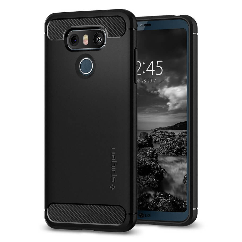 Spigen® Rugged Armor™ A21CS21230 LG G6 Case - Black