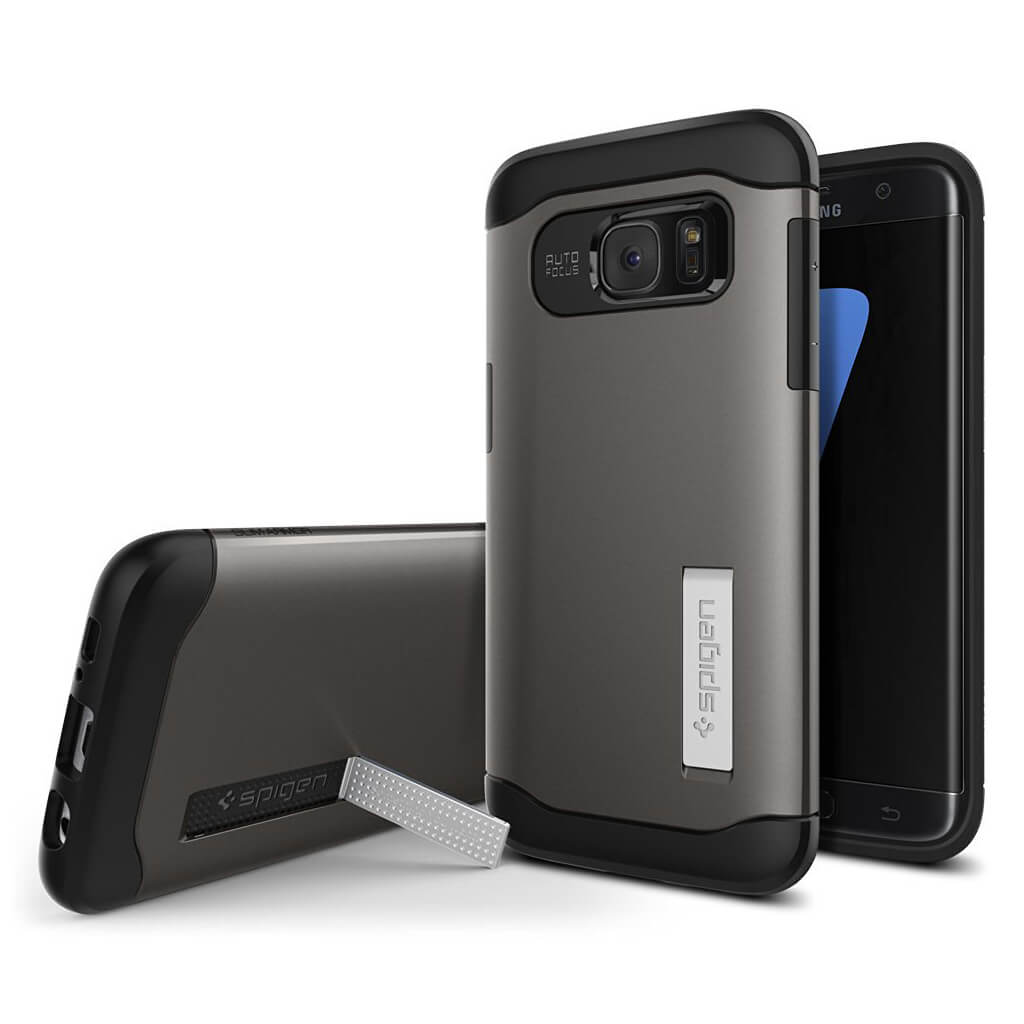 Spigen® Slim Armor™ 556CS20038 Samsung Galaxy S7 Edge Case - Gunmetal